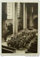 Prisonniers Allemands Dans Une Chapelle De Verdun - Page Original 1915 - Documents Historiques