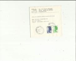 Enveloppe Bracelet  Timbrée Journaux  De TILL A  Marcq-en-Baroeuil 59 Adressé A Mme N  Pedroncini A Maison-Laffitte 78 - Marcophilie (Lettres)