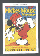 Buvard TMickey Mouse Magazine Walt Dysney Productions - Cinéma & Theatre