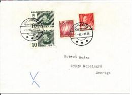 Greenland Cover Sent To Sweden Julianehaab 1-10-1976 - Groenlandia