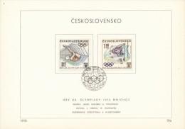 Czechoslovakia / First day sheet (1972/10 a), Bratislava - theme: Olympic Games Munich (diving, canoeing)