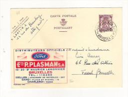 Publibel Obl. N°  860 (Dist. Officiels FORD Automobile: Ets P. Plasman Bxl) - Entiers Postaux
