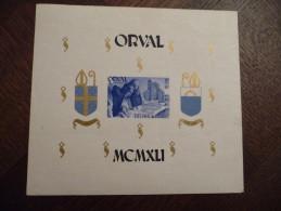 Bloc Belgique Orval. 1941. Neuf Mais Petite Déchirurure - Blocs 1924-1960