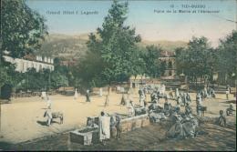 ALGERIE  TIZI OUZOU / Place De La Mairie Et L'Abreuvoir / CARTE COULEUR - Tizi Ouzou