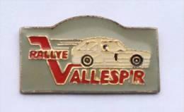 Pin's  RALLYE VALLEPIR - Voiture De Rallye Blanche -  D528 - Rallye