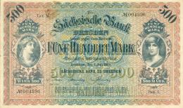 Deutschland, Germany, Sächsische Bank - 500 Mark,  ( Ro.: SAX 10 A, LIT. M., Ser. I ) VF, 1922 ! - [ 2] 1871-1918 : Impero Tedesco