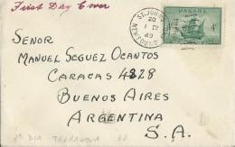 CANADA - NEWFOUNDLAND 1949 - FDC CABOT`S MATHEW NEWFOUNDLAND  W 1 ST OF 4 C ADDR TO ARGENTINA POSTM ST.JOHN'S N.F.APR 1, - ....-1951