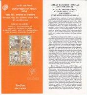Information On Great Leaders, Vijay Lakshmi Pandit, Diwan Bahadur. Choudhary, ( Gandhi ), India 2000 - Covers & Documents