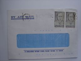 Israel 1985 Commercial Cover To UK Nice Stamps Leon Yahuda Racanati 200s X2 #1 - Israel