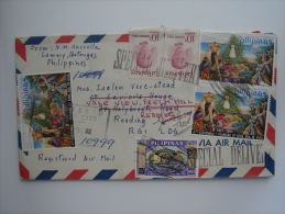 Philippines 1972 SPECIAL DELIVERY Registered Airmail Commercial Cover To UK Nice Stamps - Philippines