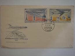 Czechoslovakia 1957 FDC Cover To UK #2 - Tschechoslowakei/CSSR