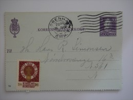 Denmark 1944 Postcard Commercial Cover To DK - Covers & Documents