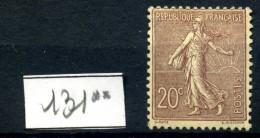 Y&T N° 131** - 1903-60 Sower - Ligned