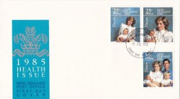 New Zealand 1985 Health - Princess Diana And Baby  FDC - FDC