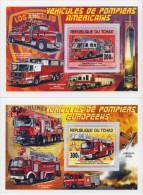 tch13113b Chad Tchad 2013 Fire engines 2 s/s