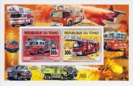 tch13113c Chad Tchad 2013 Fire engines s/s