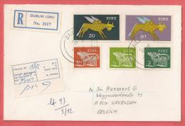 Gelopen Omslag Uit Ierland ( BAILE ATHA CLAITH - DUBLIN ) Registered / YV 252 - 255 - 258 - 264 -265 - 1949-... Repubblica D'Irlanda