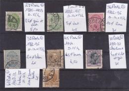 TIMBRE DU DANEMARK LOT OBLITERE  N R 27-35/37-45-61-111 1875-1920      7 VALEURS COTE 26€ - Danemark