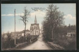 CPA Vihiers, Route De La Gare Et De L'Église - France