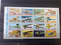 Equatoriaal Guinea - Complete Serie / Blok Vliegtuigen 1979 - Equatoriaal Guinea
