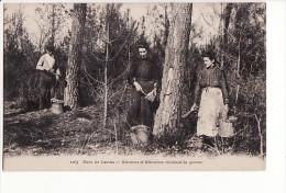 Carte 1915 DANS LES LANDES / RESINIERS ET RESINIERES RECOLTANT LA GEMME - Unclassified