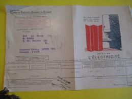 Quittance D´électricité/ Compagnie Parisienne De Distribution D´Electricité/Electricité/ 1934  GEF17 - Electricity & Gas