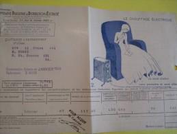 Quittance D´électricité/ Compagnie Parisienne De Distribution D´Electricité/Chauffage électrique/ 1934  GEF18 - Electricity & Gas