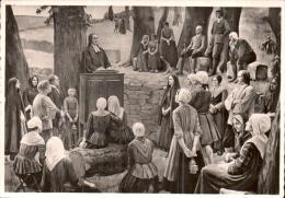 JEANNE LOMBARD UNE ASSEMBLEE AU DESERT VERS 1770 CPM PAS CIRCULEE - Peintures & Tableaux