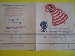 Quittance D´électricité/ Compagnie Parisienne De Distribution D´Electricité/Radiateur Parabolique/ 1934  GEF19 - Electricity & Gas