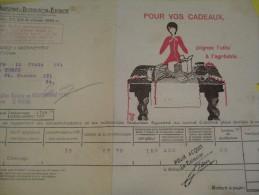 Quittance D´électricité/ Compagnie Parisienne De Distribution D´Electricité/Pour Vos Cadeaux/ 1934  GEF21 - Electricity & Gas