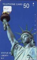 Telecarte Statue Of Liberty (411) Statue De La Liberte Twins Towers New York USA  Phonecard - Landscapes