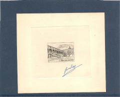 Monaco Epreuve D´artiste Du N° 549  Avec Signature Du Graveur 2éme état - Monaco