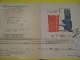 Quittance D´électricité/ Compagnie Parisienne De Distribution D´Electricité/L'électricité/ 1935  GEF28 - Electricity & Gas