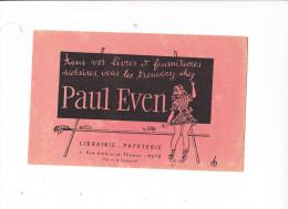Buvard PAUL EVEN Librairie Papeterie METZ - Stationeries (flat Articles)