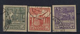 Provinz Sachsen Michel No. 87 - 89 B gestempelt used
