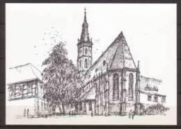 Amanduskirche In Urach , Gezeichnet Von Ernst Piepenschneider - Künstlerkarten