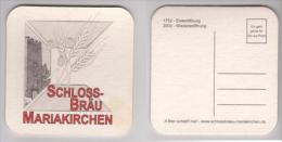 Schlossbräu Mariakirchen , 2003 Wiedereröffnung - A Bier Schadt Nial - Evi Geht Gerne Für Sie Zur Post - Beer Mats