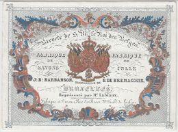 20977Mg Carte Porcelaine FABRIQUE De SAVONS Et COLLE - J:B: BARBANSON - E:DE BREMAECKER - Rue Des Roses 29 - Laeken 12x9 - Cartes De Visite