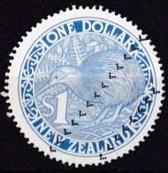 New Zealand 1988 $1 Kiwi Blue Circular Used - Used Stamps
