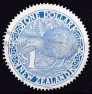 New Zealand 1988 $1 Kiwi Blue Circular Used - - - New Zealand