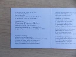 Doodsprentje Clemence Bedert Lombardsijde 13/12/1909 Veurne 11/1/2003 ( Camiel Declerck) - Religion & Esotericism