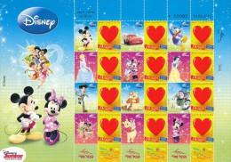 ISRAEL 2012 DISNEY SUMMER FUN SHEET MNH - Disney