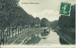 51. SAINT- MAURICE (MARNE) LE CANAL. PENICHE..PECHEURS...C1582 - Autres Communes