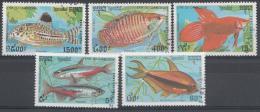CAMBODJA  MI.NR.1273-1277 ZIERFISCHE USED / GEBRUIKT / OBLITERE 1992 - Camboya