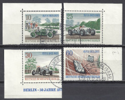 Deutschland Berlin 1971 Mi 397 398 399 400 Aus Block 3 Gestempelt AVUS  Yv. 370 371 372 373 - Berlin (West)