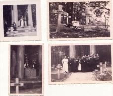 ROSSIGNOL Tintigny /cimetière De La  Guerre 14/18  Tuerie Du 22 Août 14 / Lot De 4 Photos En 36 - Lugares