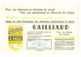 Buvard - Gaillard Pour Vos Vêtements De Travail Et Votre Linge De Maison  MVT  Tours TTB (scan De Mauvaise Qualité) - Textile & Vestimentaire