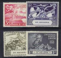 290 - ST. HELENA 1949 , UPU : N. 114/117  *** MNH - Isola Di Sant'Elena