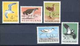 PAYS BAS   NETHERLAND   1961  .  Yvert 733/737   Michel 760/764   BIRDS   OISEAUX   VÖGEL - Neufs