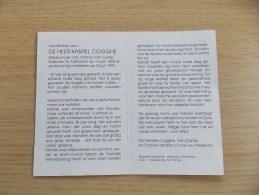 Doodsprentje Kamiel Cogghe Adinkerke 16/6/1989 - 26/6/1990 ( Joanna Van Camp) - Religion & Esotericism